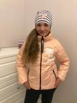 Детская куртка с отстегивающимися рукавами и шапкой р. 134-164 360-2