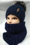 Комплект на подростка - шапка и хомут
