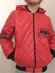 Детские кожаные куртки р. 134-164 341-5