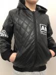 Детские кожаные куртки р. 134-164 341-7