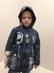 Детские парковые джинсовые куртки р. 98-116 607-1