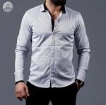 Мужские рубашки длинный рукав 01-01-524
