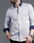 Мужские рубашки длинный рукав 01-16-726