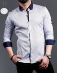 Мужские рубашки длинный рукав 01-16-728