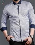 Мужские рубашки длинный рукав 01-16-729