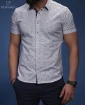 Мужские рубашки короткий рукав 01-20-563