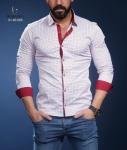 Мужские рубашки длинный рукав 01-40-565