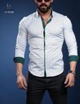 Мужские рубашки длинный рукав 01-40-566