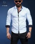 Мужские рубашки длинный рукав 01-40-568