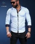 Мужские рубашки длинный рукав 01-40-582