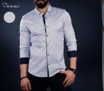 Мужские рубашки длинный рукав 01-40-728