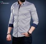 Мужские рубашки длинный рукав 01-40-730