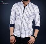 Мужские рубашки длинный рукав 01-41-3031