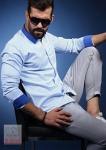 Мужские рубашки длинный рукав 01-59-541