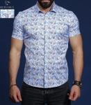 Мужские рубашки короткий рукав 01-66-689