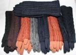 Женские перчатки трикотаж/плюш 74-2