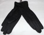 Женские перчатки замша/плюш сенсор 17-1