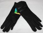 Женские перчатки замша/плюш сенсор 17-8