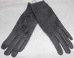 Женские перчатки замша/плюш сенсор 17-10