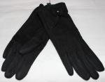 Женские перчатки замша/плюш сенсор 17-4
