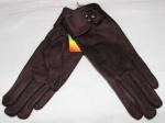 Женские перчатки замша/плюш сенсор 17-9