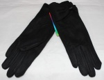 Женские перчатки замша/плюш сенсор 17-3