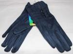Женские перчатки замша/плюш сенсор 17-2