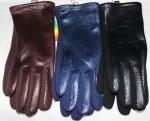 Женские перчатки трикотаж + кож.зам/плюш сенсор 1819