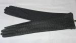 Женские перчатки трикотаж+вязка/плюш 112-1