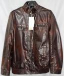 Мужская куртка кожзам 1806-2А-2