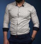 Мужские рубашки длинный рукав 06-01-619