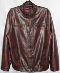 Мужская куртка кожзам Батал 52F-2