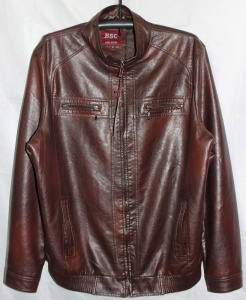 5964f3b3 Мужская куртка кожзам Батал 52F-2