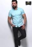 Мужские рубашки короткий рукав 12-07-427