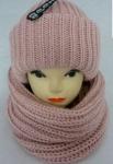 Женский комплект - шапка и хомут