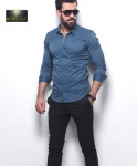 Мужские рубашки длинный рукав 21-07-432