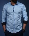 Мужские рубашки длинный рукав 23-01-589