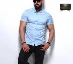 Мужские рубашки короткий рукав 23-07-420