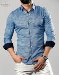 Мужские рубашки длинный рукав 23-21-736