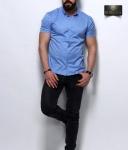 Мужские рубашки короткий рукав 26-07-434