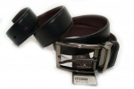 Мужской кожаный двухсторонний ремень 35 мм