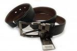 Мужской кожанный ремень-двухсторонний 40 мм