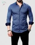 Мужские рубашки длинный рукав 26-21-736