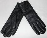 Женские перчатки кожа/махра 83-4