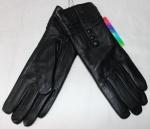 Женские перчатки кожа/махра 83-2