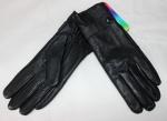Женские перчатки кожа/кролик 68-8