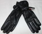 Женские перчатки кожа/кролик 68-10