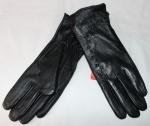 Женские перчатки кожа/кролик 68-4