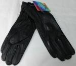 Женские перчатки кожа/кролик 68-5