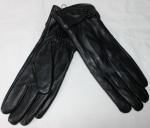 Женские перчатки кожа/кролик 68-6